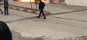 Giresun'da korkutan araç yangını