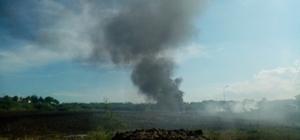 Akaryakıt istasyonu yakınlarındaki lastik ateşi korkuttu