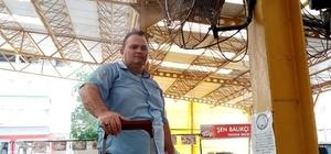 Kapalı pazar yerine vantilatörlü, fıskiyeli serinlik