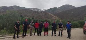 9 saatte 2 bin 950 rakımlı dağa tırmandılar