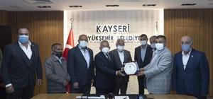 Büyükkılıç'a Ziraat Odası başkanlarından teşekkür ziyareti