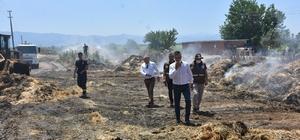 Manisa Tarım ve Ormancılık Müdürlüğünden yangın çıkan besi çiftliğine ziyaret