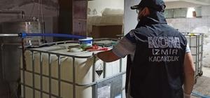 İzmir'de 3 bin 500 litre sahte etil alkol ele geçirildi