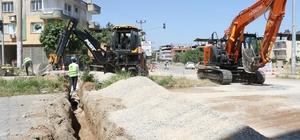 Ahmetli'de yağmur suyu altyapı çalışmaları başladı