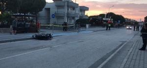 Kontrolden çıkan motosiklet önce kaldırıma ardından yayaya çarptı: 2'si ağır 3 yaralı