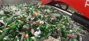 Bergama'da 5 ayda 22 ton cam atık toplandı