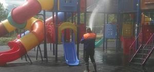 Gediz Adnan Menderes Yaşam Parkı'nda dezenfekte çalışması