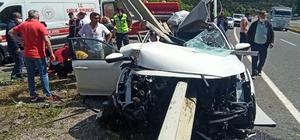 Havran'da araç refüje girdi: 5 yaralı