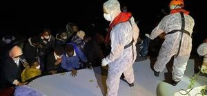Yunan unsurları tarafından geri itilen 32 göçmen kurtarıldı