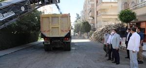 Canpolat, Ulubatlı'daki asfalt çalışmalarını inceledi