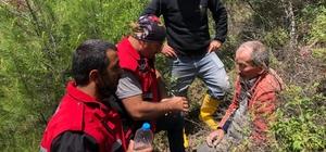 Evden çıktıktan sonra haber alınamayan yaşlı adam yaralı şekilde bulundu Ormanlık alanda bulunan 88 yaşındaki adamın ilk isteği su oldu