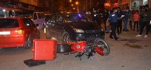 Motosiklet kuryesi kazada yaralandı