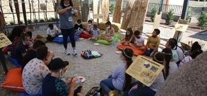 Çevreci çocuklar Efes Tarlası Yaşam Köyünde