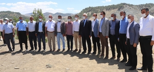 Gaziantep ve Adıyaman protokolü'nden Çetintepe Barajı inşaatında inceleme