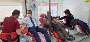 Kaymakamlık kan bağışı kampanyası düzenledi