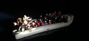 Yunan unsurları tarafından geri itilen 31 göçmen kurtarıldı