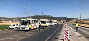Kahramanmaraş'ta servis araçları denetlendi 16 sürücüye 5 bin 260 lira para cezası uygulandı