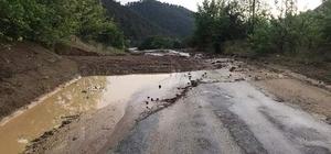 İnhisar'da sel baskını yaşandı