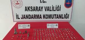Aksaray'da Roma dönemine ait 171 sikke ve 20 tarihi obje ele geçirildi