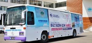 Aksaray Belediyesinin sosyal mağaza otobüsü yola çıktı
