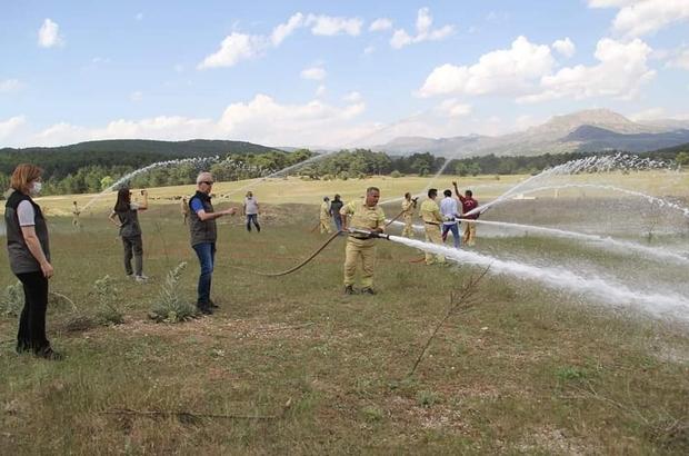 Eğirdir'de orman yangınları tatbikatı gerçekleştirildi