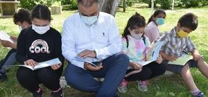 Görele'de açık havada kitap okuma etkinliği