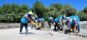 Tuşba Belediyesinin yol yapım çalışmaları sürüyor