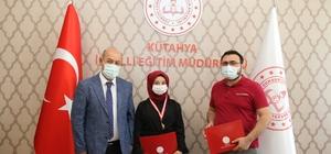Kütahya'da yarışmada dereceye giren öğrenciler ödüllendirildi