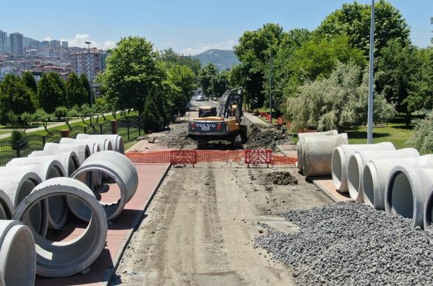 'Canik Yağmur Suyu Kolektör Hattı'nın ilk etabı tamam 2,6 kilometre tünel inşa ediliyor