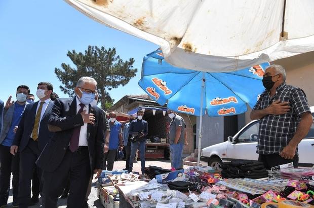 Başkan Büyükkılıç, Yemliha, Ebçi ve Mahzemin'de vatandaşlarla buluştu