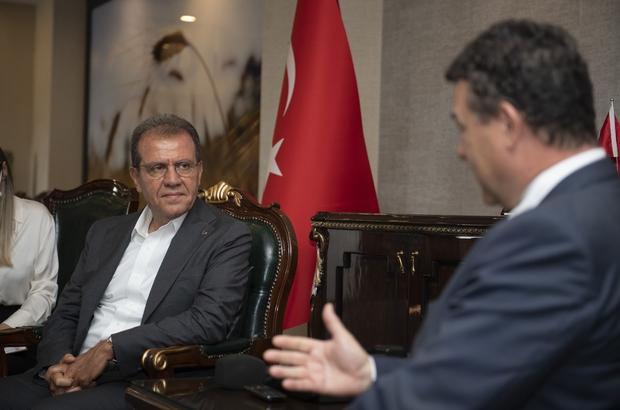 """Seçer: """"Mersin'deki mülteci olayına öncelikle insan olarak yaklaşıyorum"""" Mersin Büyükşehir Belediye Başkanı Vahap Seçer: """"BM Yüksek Komiserliğinin önemli bir çözüm ortağı olduğunu düşünüyorum"""""""
