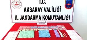 Aksaray'da jandarmadan terminalde uyuşturucu operasyonu Otobüste inen şahsın üzerinden ve evinden bin 549 adet uyuşturucu hap çıktı