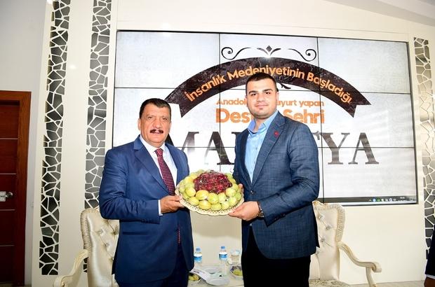 """AK Partili İnan, Başkan Gürkan'ı ziyaret tti İnan: """"Başkanımızın Malatya'ya yaptığı hizmetlerle gurur duyuyoruz"""""""