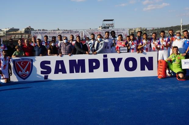 Hokeyde Erkekler Açık Alan Süper Ligi sona erdi Gaziantep Polisgücü, Erkekler Açık Alan Süper Ligi şampiyonu oldu