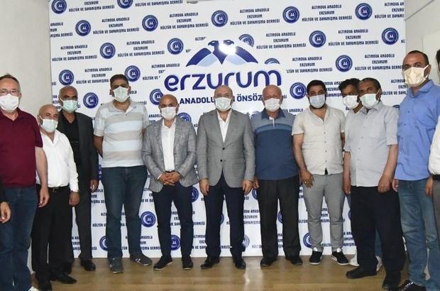 Başkanlardan Erzurumlular'a ziyaret