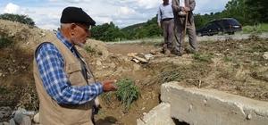 (ÖZEL) Tıkanan menfez yüzünden ekili arazileri su basıyor