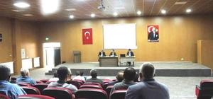 Hisarcık'ta dere yataklarının ıslah edilmesi ve temizlenmesi konulu toplantı
