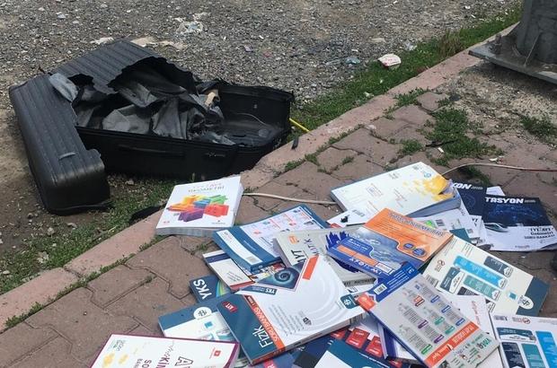 Fünye ile patlatılan valizden 'kitap' çıktı