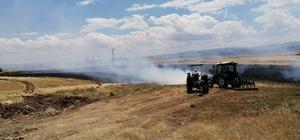 Tunceli'de 10 dönüm ekili alan yanarak kül oldu