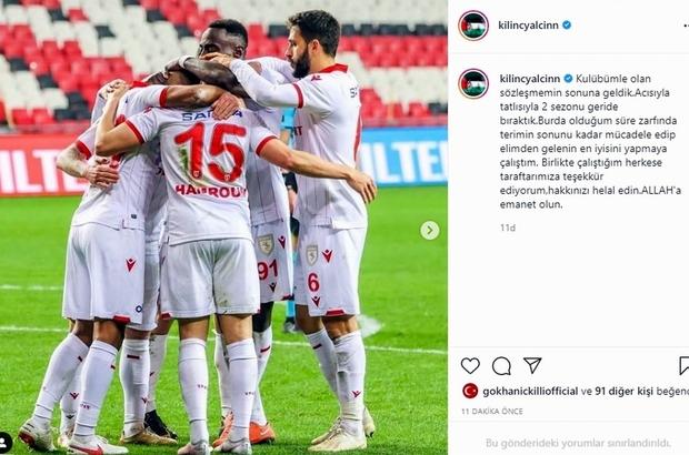 Samsunspor'da 1 ayrılık daha kesinleşti Yalçın Kılınç Samsunspor'a veda etti