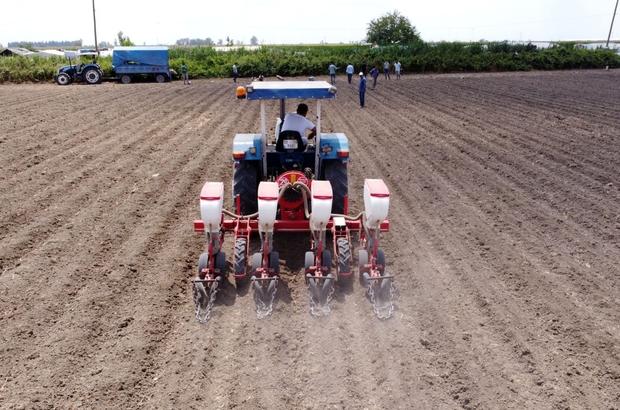 Tarsus Belediyesi, bu kez de yerli tohumla soya fasulyesi ekti
