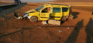 Konya'da ticari taksi şarampole devrildi: 1 ölü, 5 yaralı