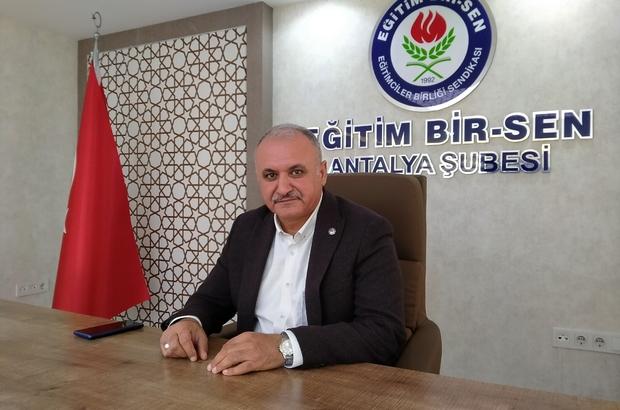 """Eğitim Bir Sen Antalya Başkanı Miran: """"Ek 40 bin öğretmen ataması yapılmalı"""""""