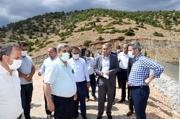 Çelikhan Yeşiltepe Baraj Göleti sulamaya açılıyor