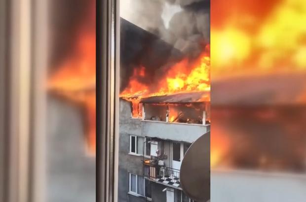 Bursa'da 2 katlı bina alevlere teslim oldu