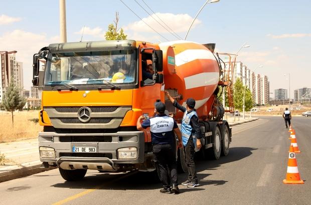 Diyarbakır'da ağır tonajlı araçlara sıkı denetim