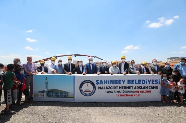 Şahinbey'de Malazgirt Camii'nin temeli atıldı