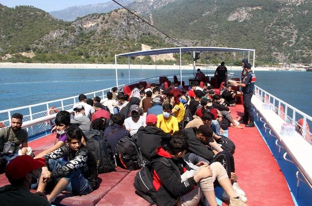 Fethiye'de 97 kaçak göçmen yakalandı