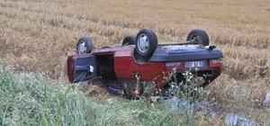 Buğday tarlasına yuvarlandı: 5 yaralı