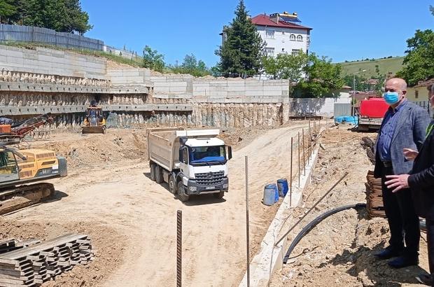 Havza'ya 353 araç kapasiteli otopark Başkan Özdemir çalışmaları inceledi